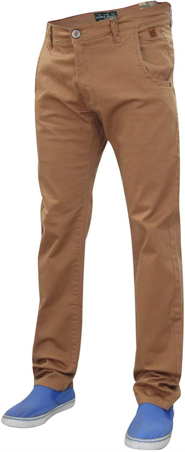 Men-Chinos-Regular-Fit-Jeans-Cotton-Stretch-Casual-Pants-Trousers-All-Waist-Size thumbnail 16