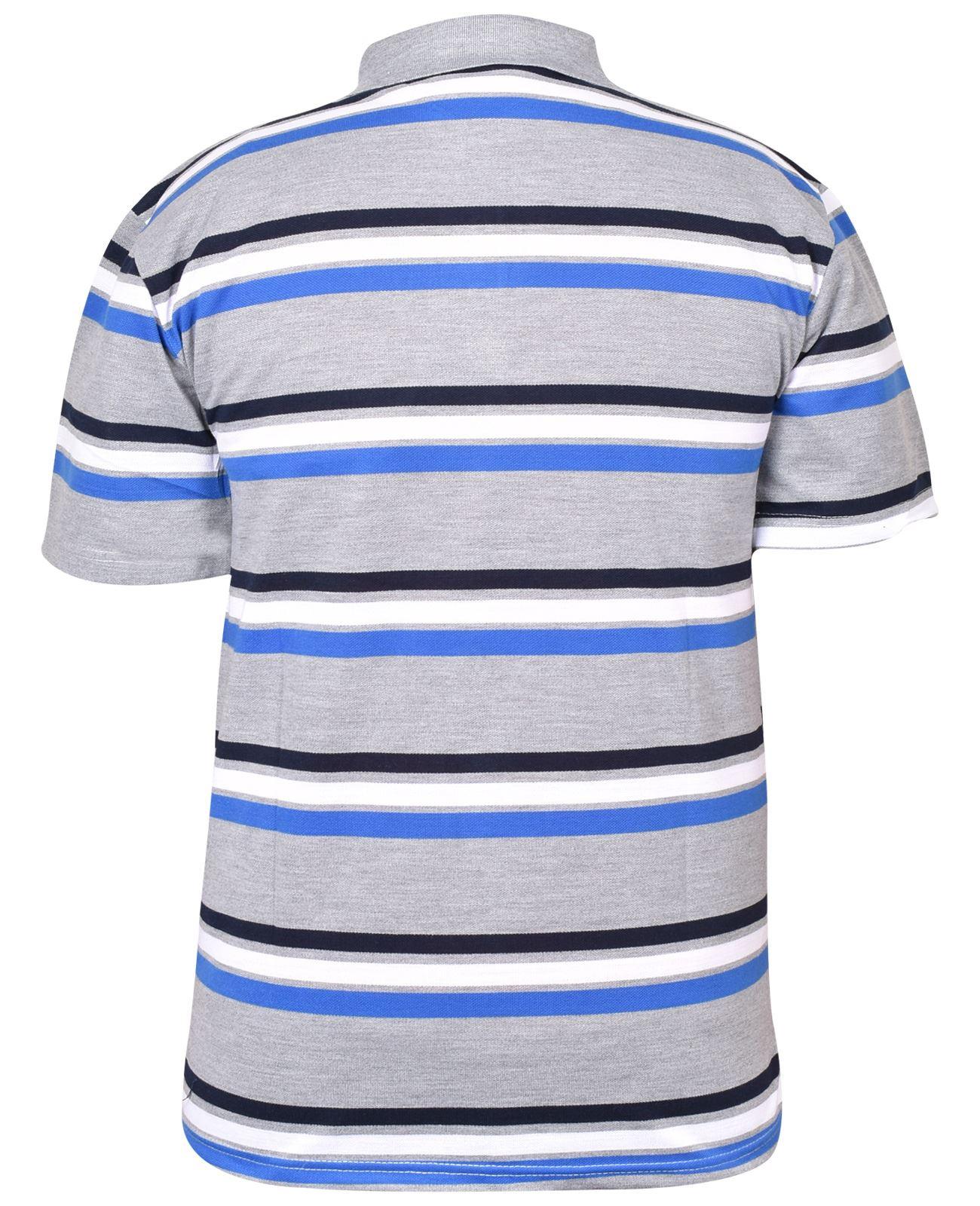 Mens-T-Shirts-Yarn-Dyed-Strip-Pocket-Polo-Shirt-Top-Multi-Colour-Size-M-3XL thumbnail 8