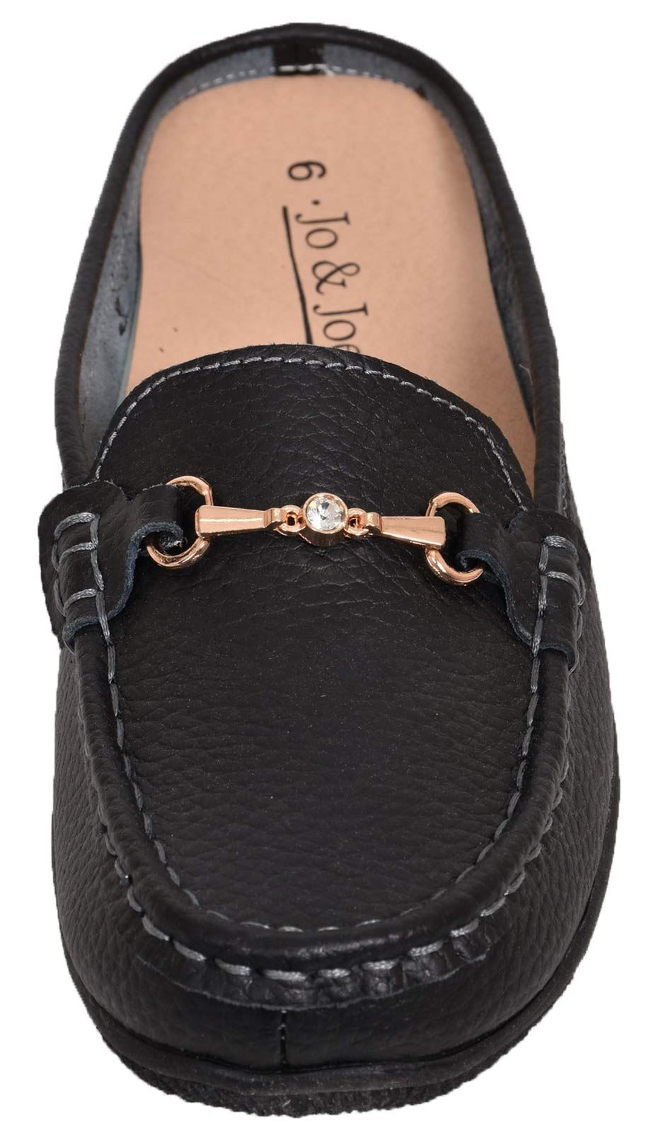 Ladies-Leather-Loafer-Mules-Comfort-Shoes-Womens-Slider-Moccasins-Shoes thumbnail 16