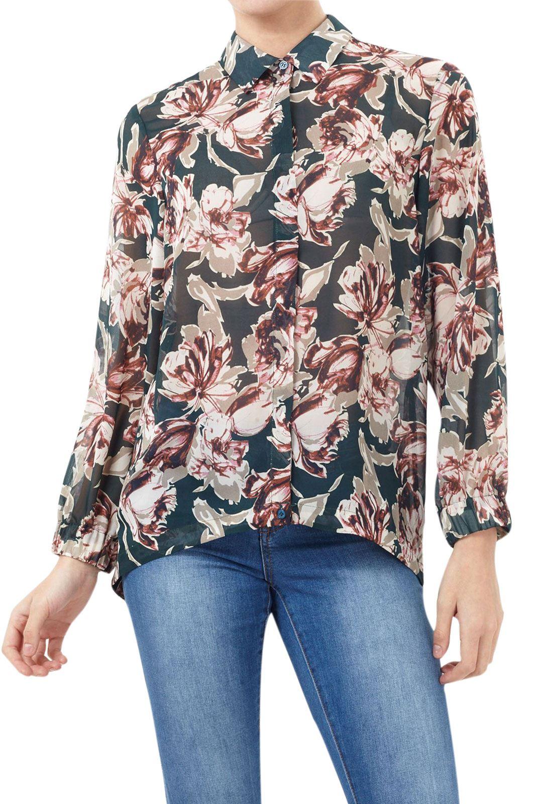 UK 6-18 Womens Floral Bell Sleeve Prints Slit Sleeve Ladies Tops T-Shirt Blouse
