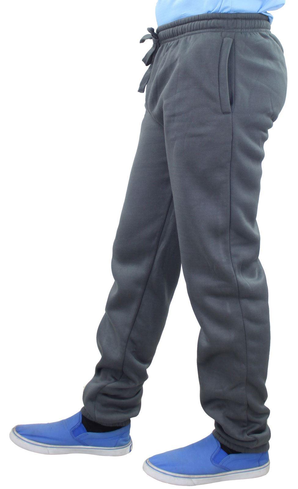 Mens-Women-Plain-Fleece-Joggers-Bottoms-Jogging-Pant-Gym-Fitness-Sports-Trousers thumbnail 4