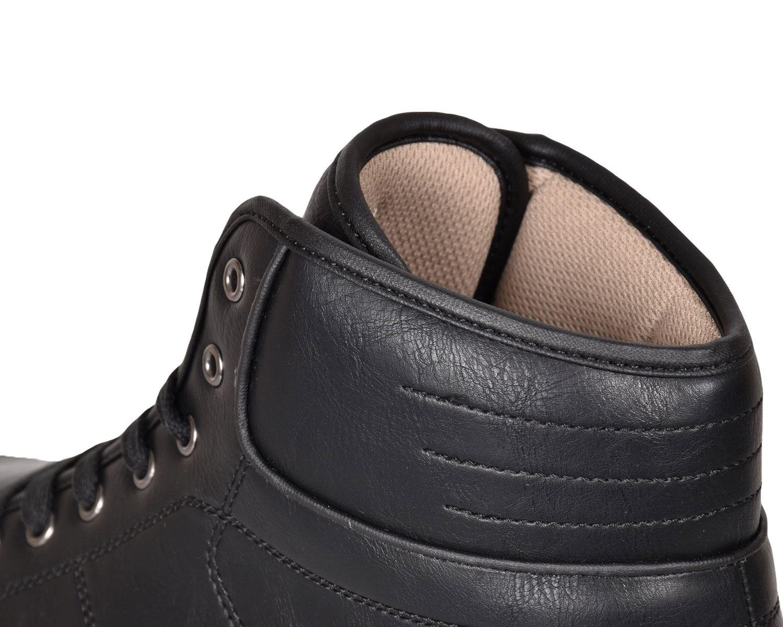 Crosshatch-Para-hombre-Tobillo-Alto-Zapatillas-Sneaker-Con-Cordones-Tapas-Planas-Botas-UK-Tamanos-7 miniatura 12