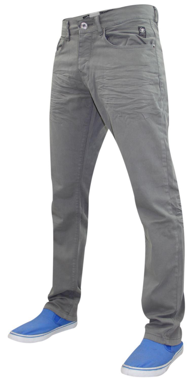 Crosshatch-Hombre-Denim-Jeans-Corte-Recto-Pantalones-Pantalones-todos-los-tamanos-de-la-cintura miniatura 3
