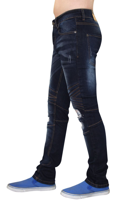 Para-Hombre-Biker-Skinny-Jeans-lealtad-amp-Faith-Slim-Fit-Pantalones-Ajustados-Pantalones-rasgada miniatura 18