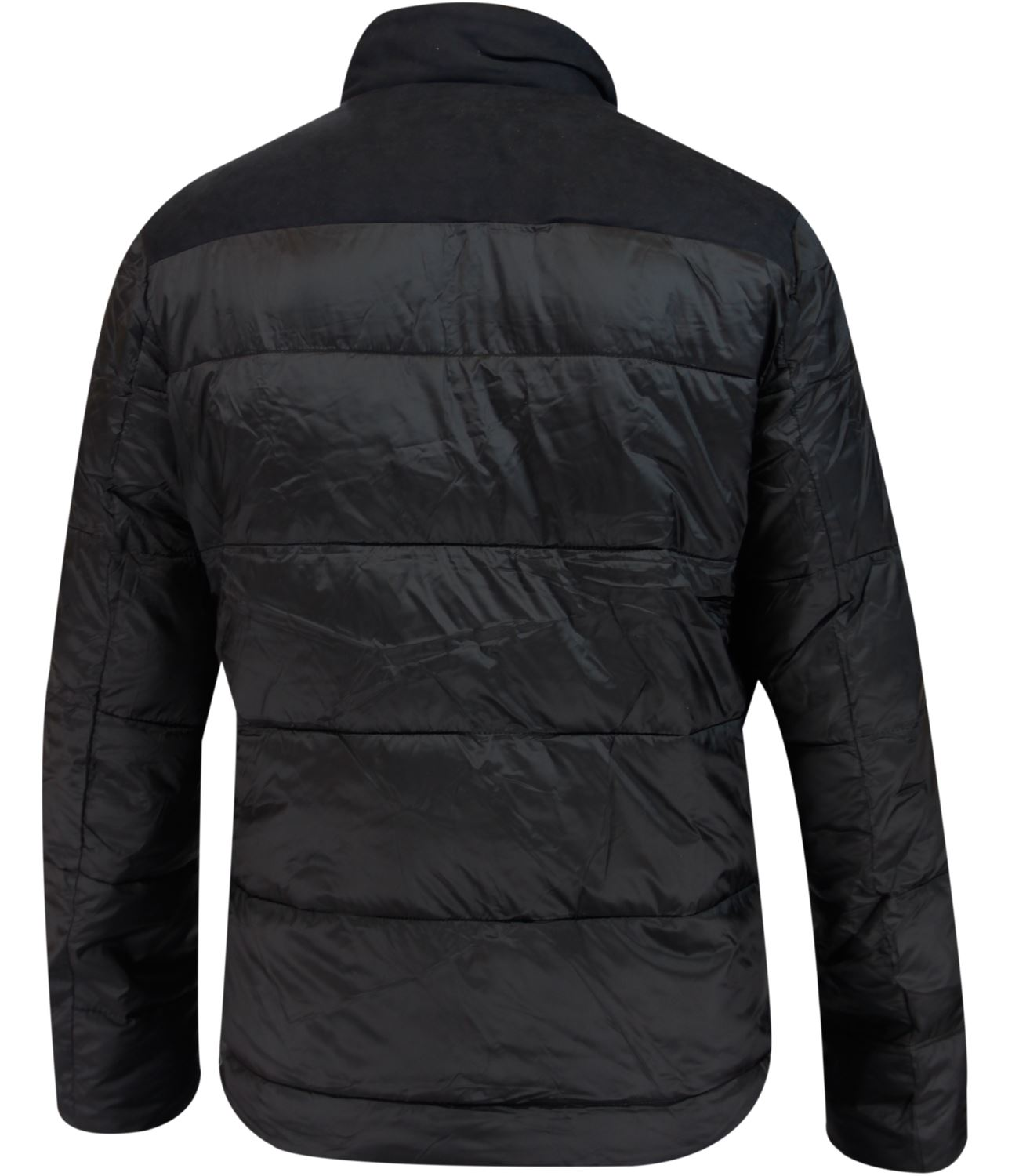 New-Mens-Puffer-Padded-Coat-Sherpa-Collar-Suede-Patches-Winter-Lined-Zip-Jacket thumbnail 3