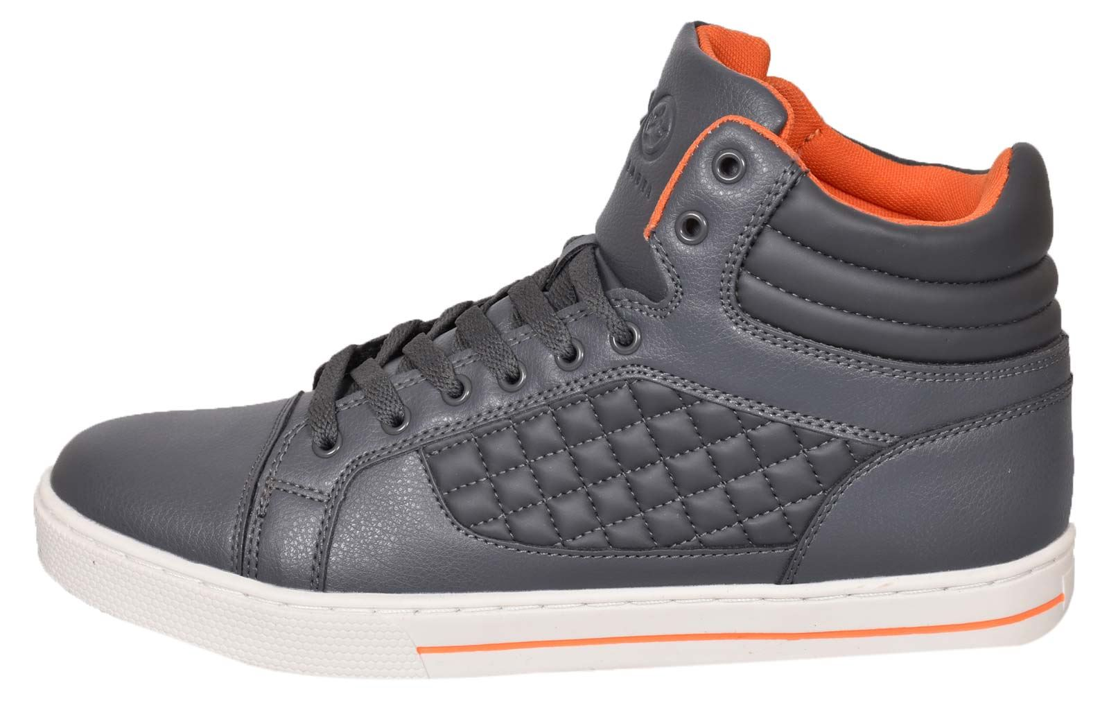 Mens-Trainers-Lace-up-Crosshatch-High-Tops-Ankle-Padded-Shoes-New-UK-Sizes-7-12 thumbnail 12
