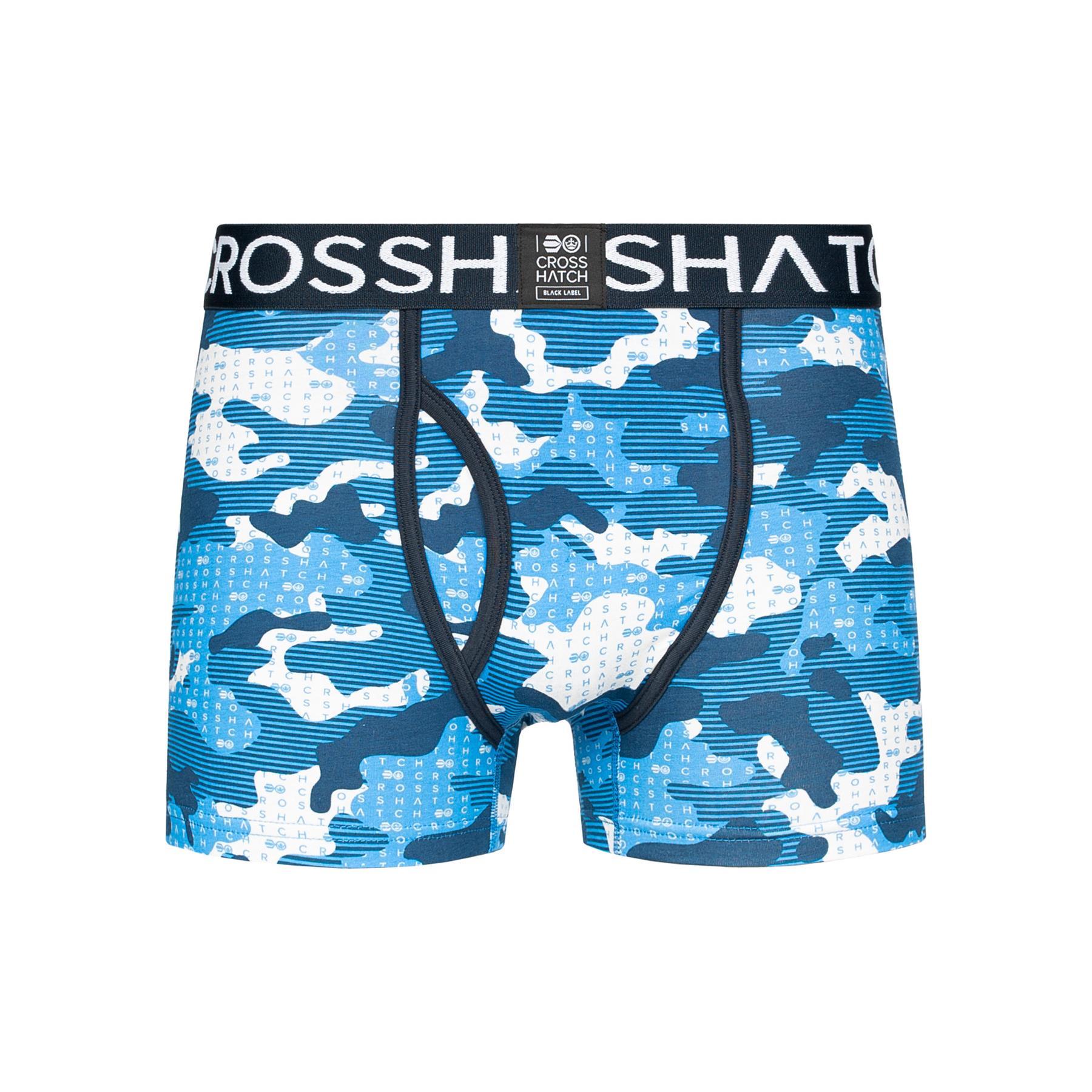 thumbnail 23 - Mens Crosshatch Boxers 3 Pack Shorts Underwear Trunks Underpants Multipack Sets
