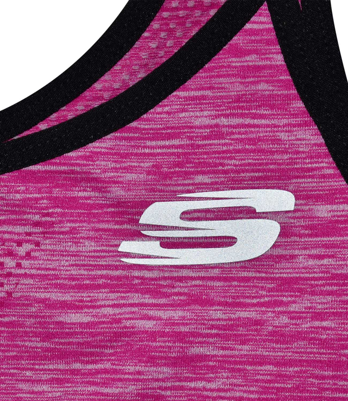 Skechers-senoras-para-mujer-Sujetador-Deportivo-Activo-Gimnasio-Correr-Top-Corto-Active-Wear miniatura 8