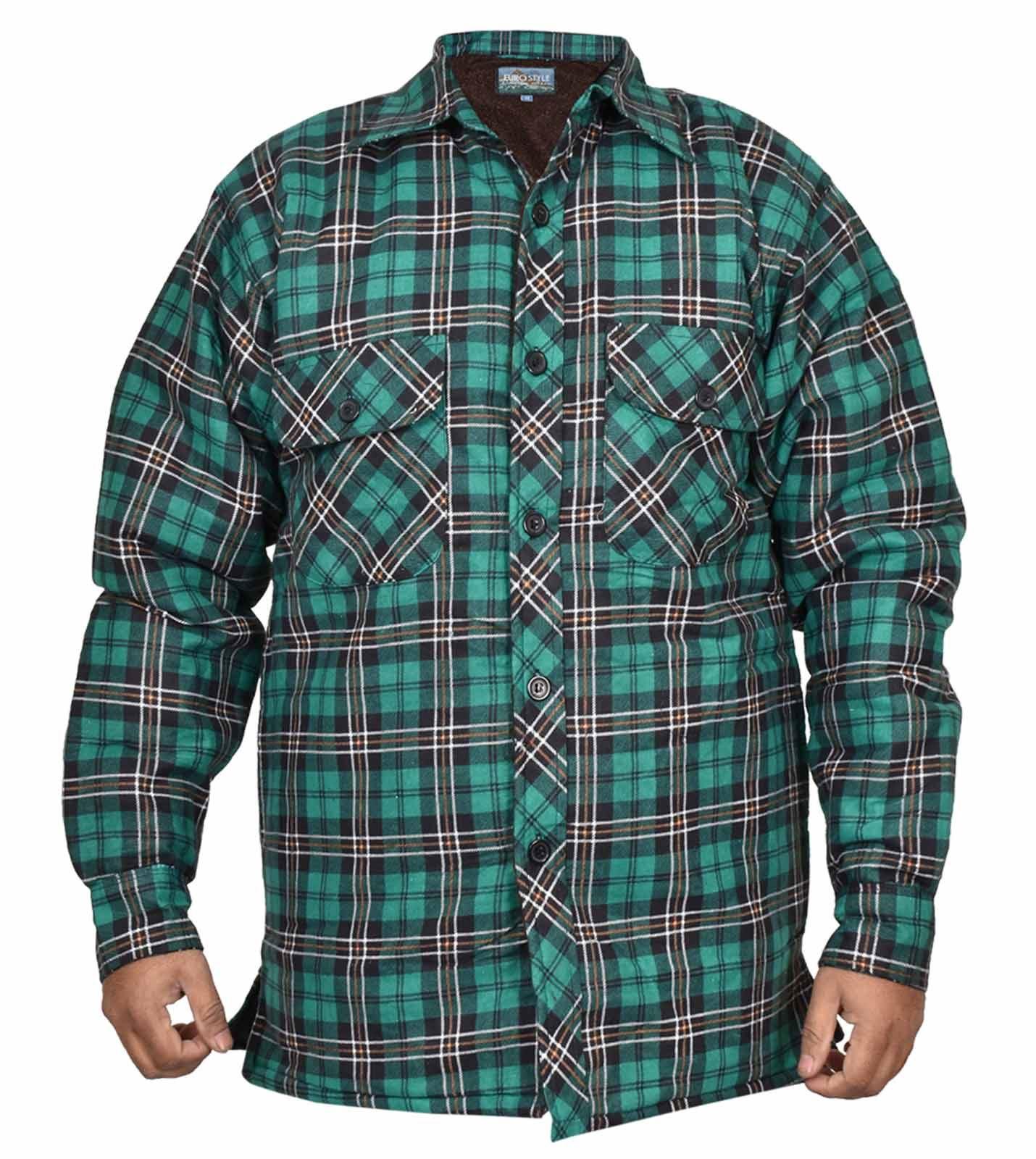 536482d820 Hombre Casual Camisa Cálido Grueso Larga Acolchada Mangas de Leñador Cuadros