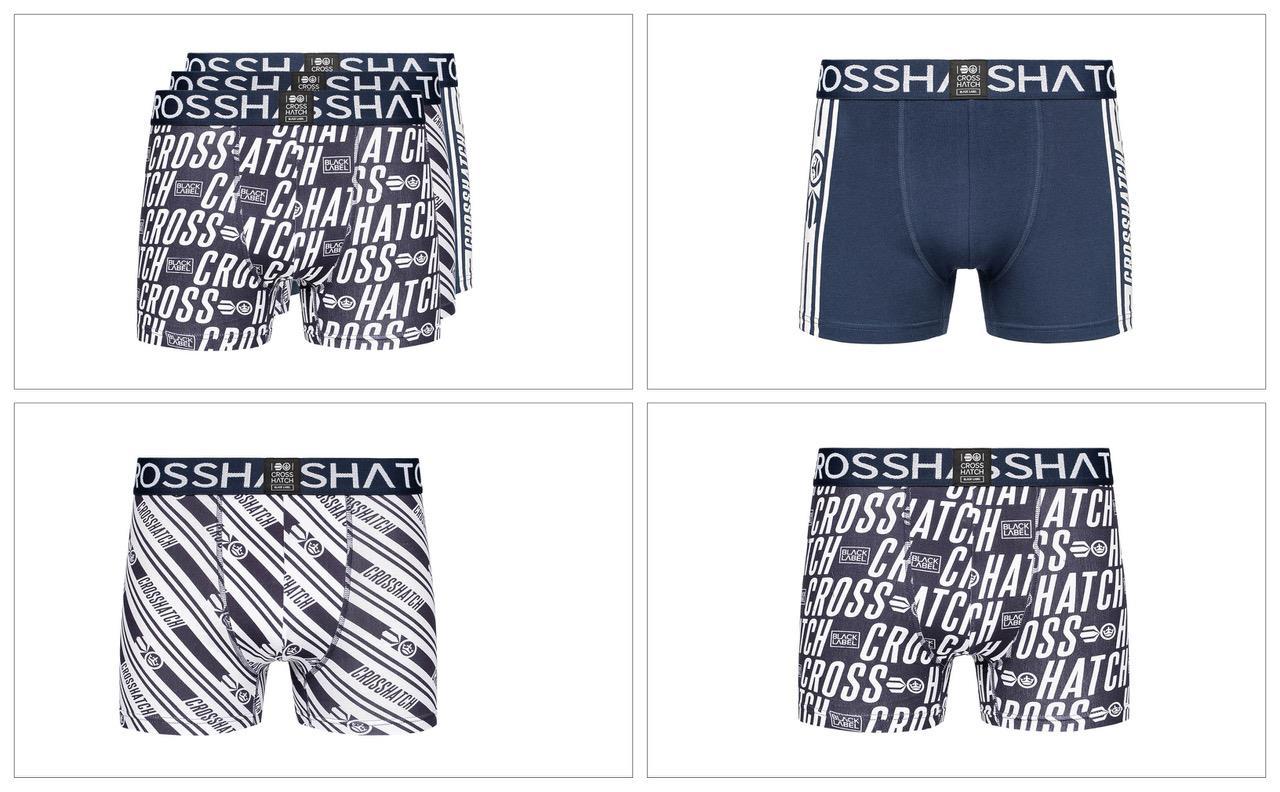 thumbnail 28 - Mens Crosshatch Boxers 3 Pack Shorts Underwear Trunks Underpants Multipack Sets