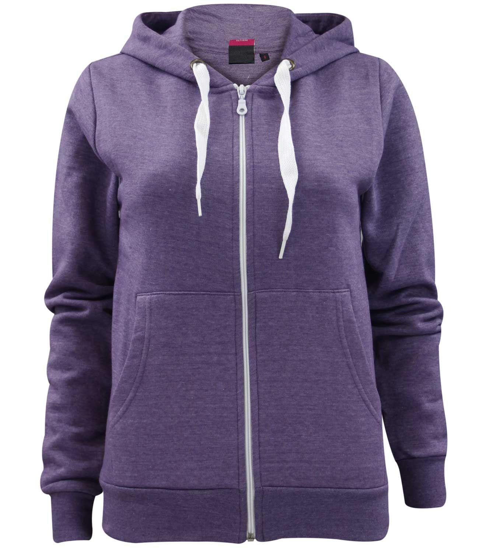 Ladies Girls Plain Zip up Hoodie Sweatshirt Women Fleece Hooded ... 7469497e5