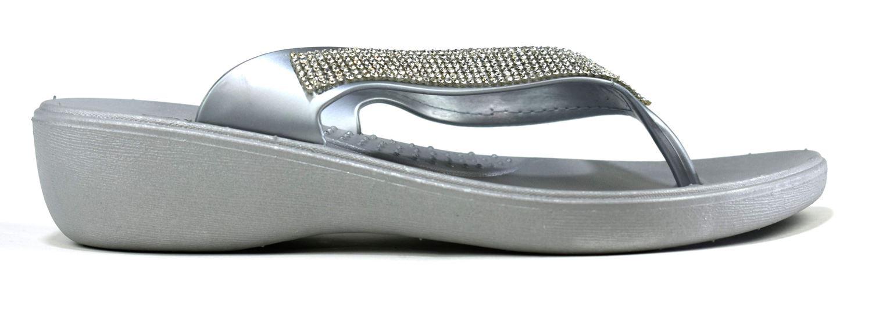 Ladies Flip Flops Wedge Sandal Diamate Women slip on Toe post Thong UK Size 3-8