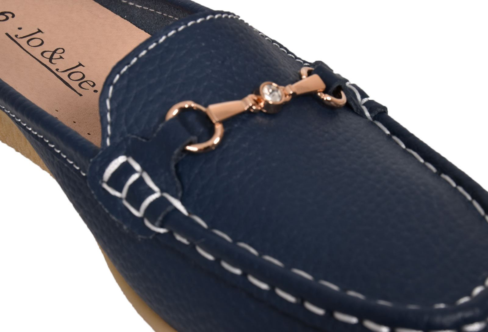 Ladies-Leather-Loafer-Mules-Comfort-Shoes-Womens-Slider-Moccasins-Shoes thumbnail 31