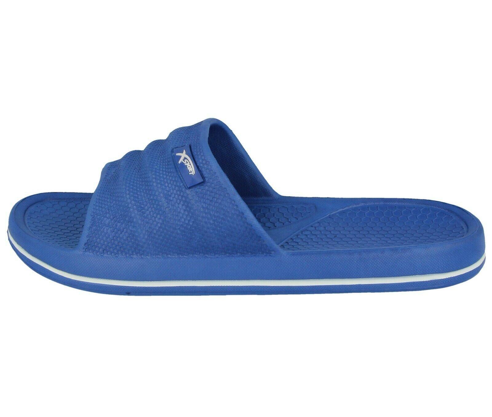 HOCHSTE Mens Slider Slip on Mules Beach Holiday Pool Shower Flat Summer Sandal Size 6-11