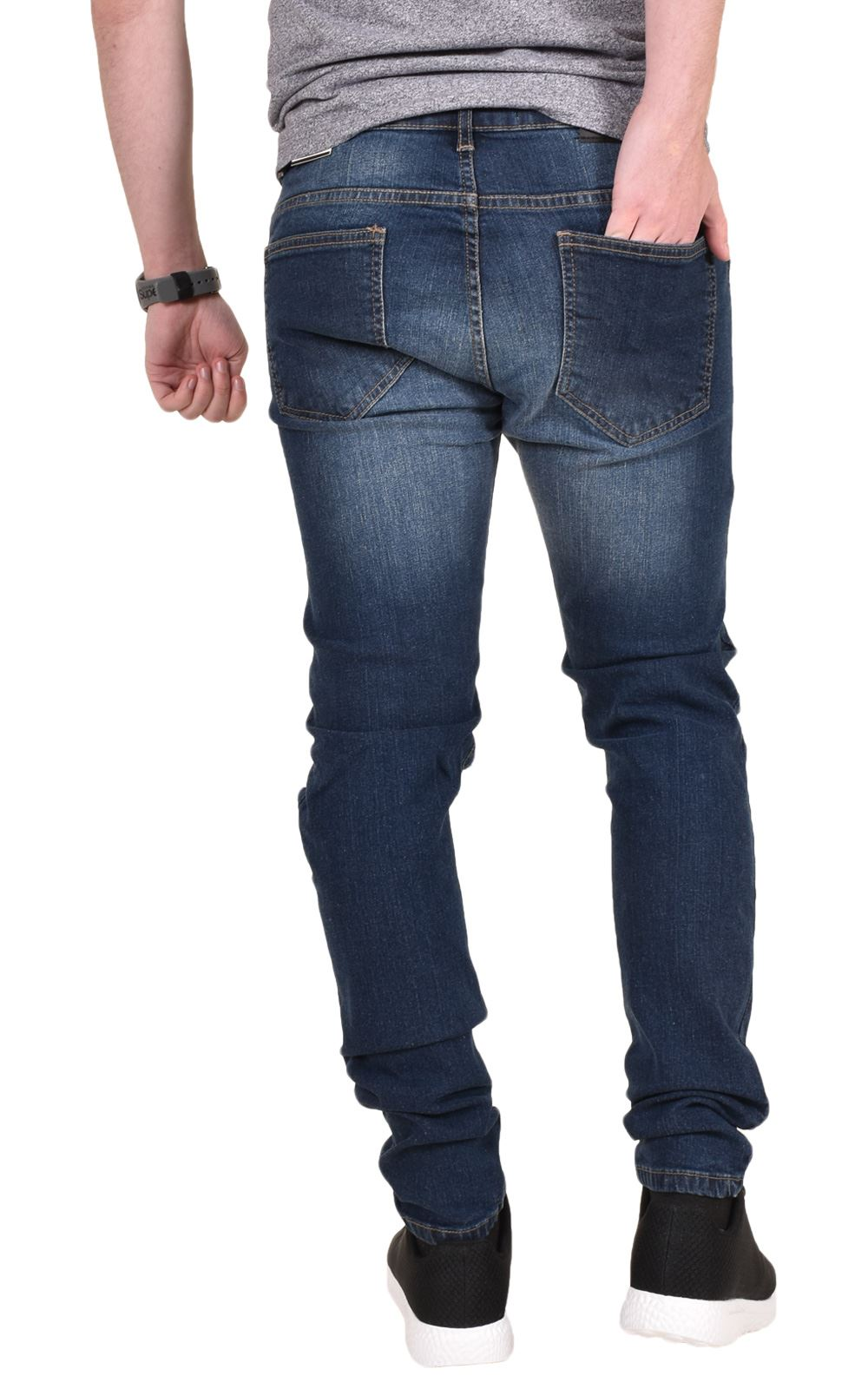 Mens-Ripped-Jeans-Skinny-Slim-Fit-Stretch-Distressed-Denim-Pants-Trousers-28-40 thumbnail 5