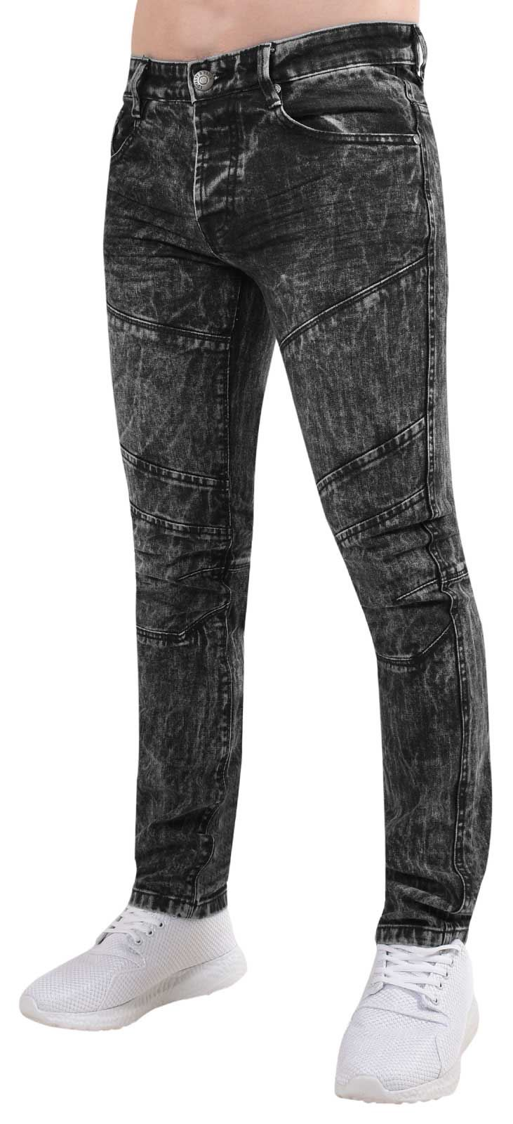 163d0cc88ab Mens Loyalty   Faith Slim Fit Jeans Ripped Cotton Stretch Denim ...