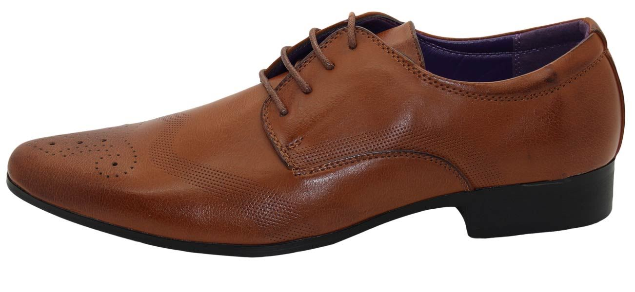 Mens-UK-Style-Leather-Lining-Formal-Office-Wedding-Smart-Work-Brogue-Shoes thumbnail 114