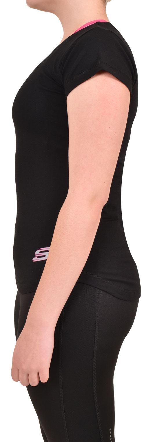 Camiseta-Para-Mujer-Elastico-Damas-Deportes-Skechers-Top-Secado-Rapido-Baile-Fitness-Gym miniatura 4