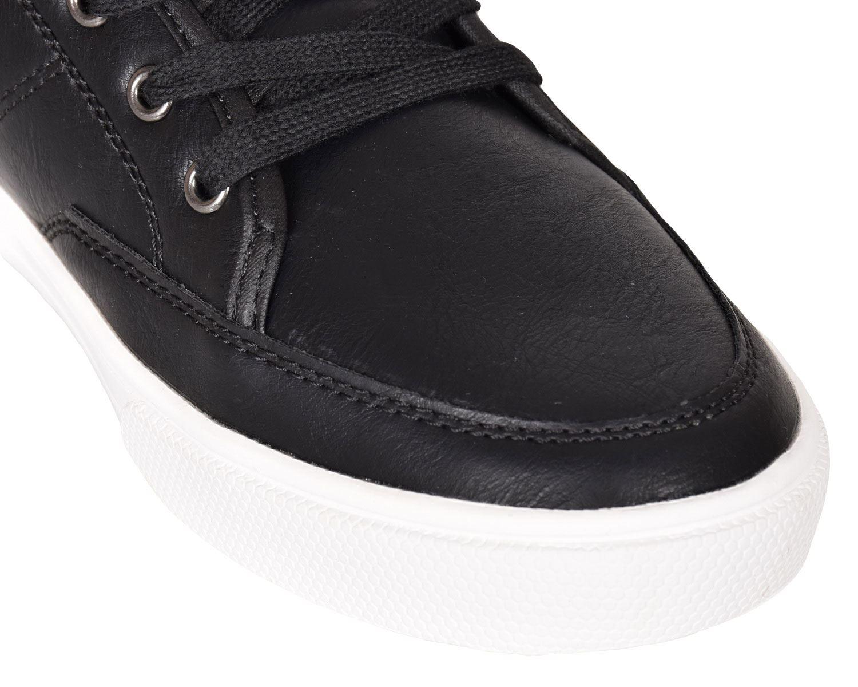 Crosshatch-Para-hombre-Tobillo-Alto-Zapatillas-Sneaker-Con-Cordones-Tapas-Planas-Botas-UK-Tamanos-7 miniatura 11