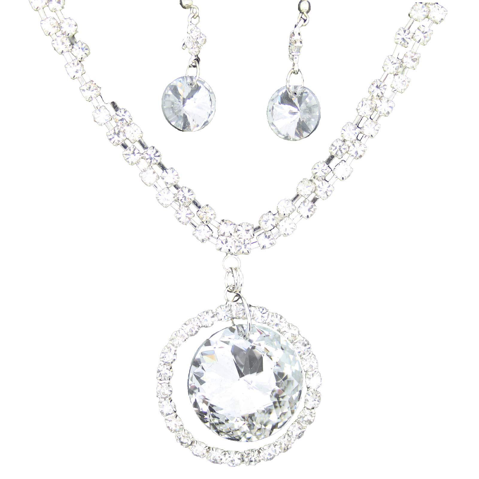 True-Face-Ladies-Women-039-s-Elegant-Earrings-Necklace-Set-Metal-Alloy-Jewellery thumbnail 36