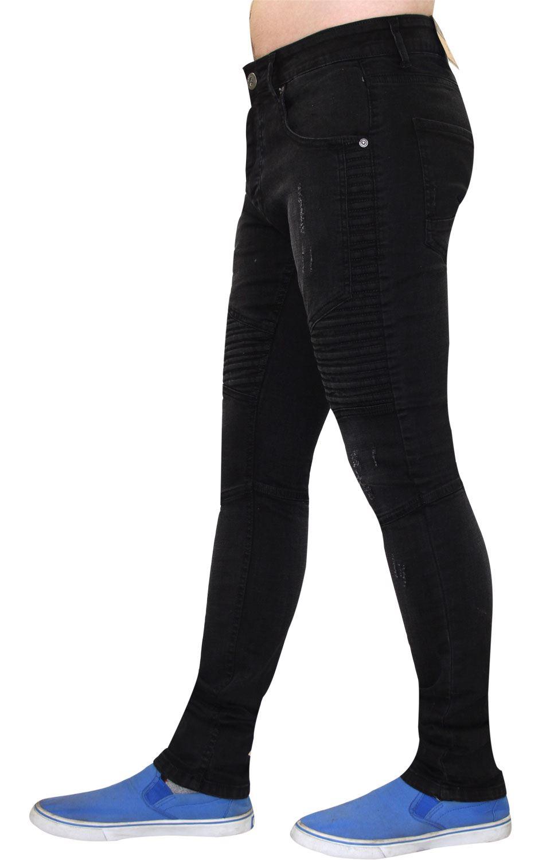 Para-Hombre-Biker-Skinny-Jeans-lealtad-amp-Faith-Slim-Fit-Pantalones-Ajustados-Pantalones-rasgada miniatura 4