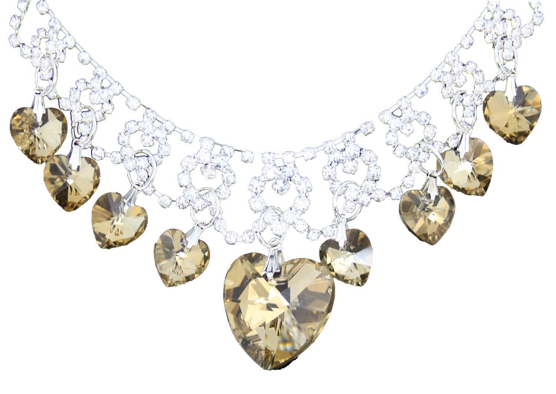 True-Face-Ladies-Women-039-s-Elegant-Earrings-Necklace-Set-Metal-Alloy-Jewellery thumbnail 19