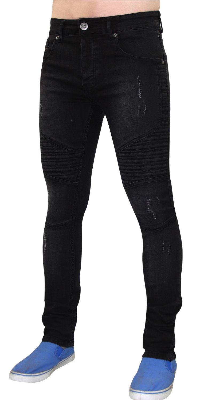 Para-Hombre-Biker-Skinny-Jeans-lealtad-amp-Faith-Slim-Fit-Pantalones-Ajustados-Pantalones-rasgada miniatura 3