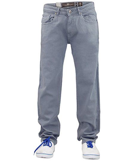 Mens-Slim-Fit-Pantalones-Pantalones-Vaqueros-Crosshatch-Stretch-Denim-Cintura-Tallas-30-38 miniatura 8