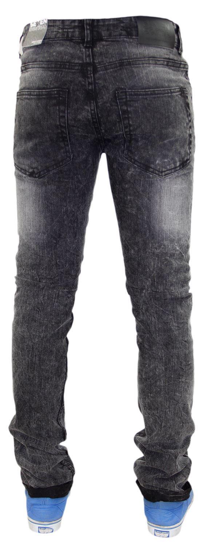 Homme Motard Jeans Déchiré skinnny Slim Denim Stretch Style Coton série 7 NEUF