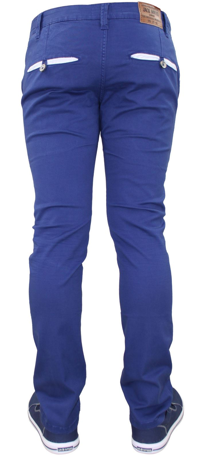 Men-Chinos-Trousers-Regular-Fit-Stretch-Cotton-Jeans-Pants-All-Waist-Sizes thumbnail 5