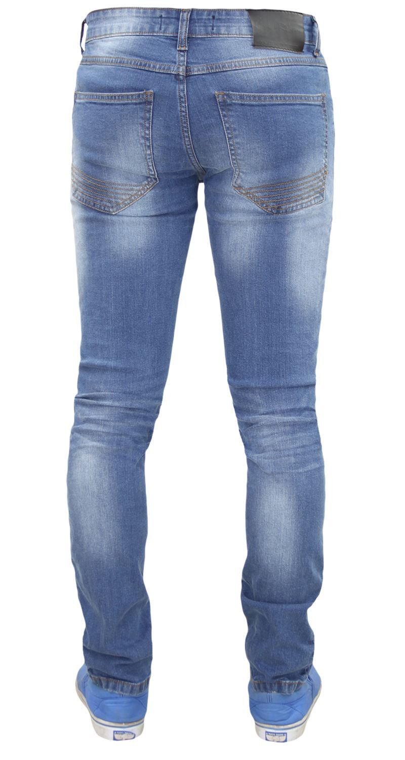Mens-Skinny-Stretch-Ripped-Jeans-Slim-Fit-Casual-Trousers-Denim-Pants-All-Sizes thumbnail 20