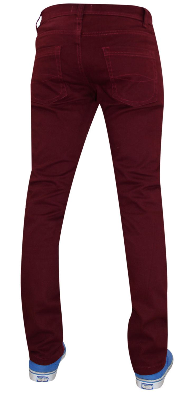 Mens-Jeans-Ajustados-Slim-Fit-Denim-Sarga-de-algodon-elastico-Pantalones-Chinos-Pantalones miniatura 4