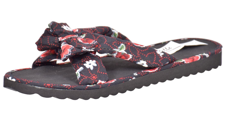 Ladies-Mule-Hawaiian-Floral-Womens-Beach-Slipper-Slip-on-Shoes thumbnail 37