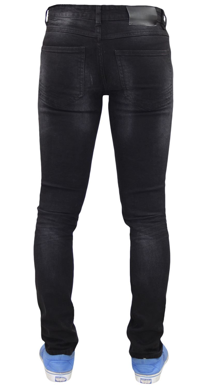Mens-Skinny-Stretch-Ripped-Jeans-Slim-Fit-Casual-Trousers-Denim-Pants-All-Sizes thumbnail 5