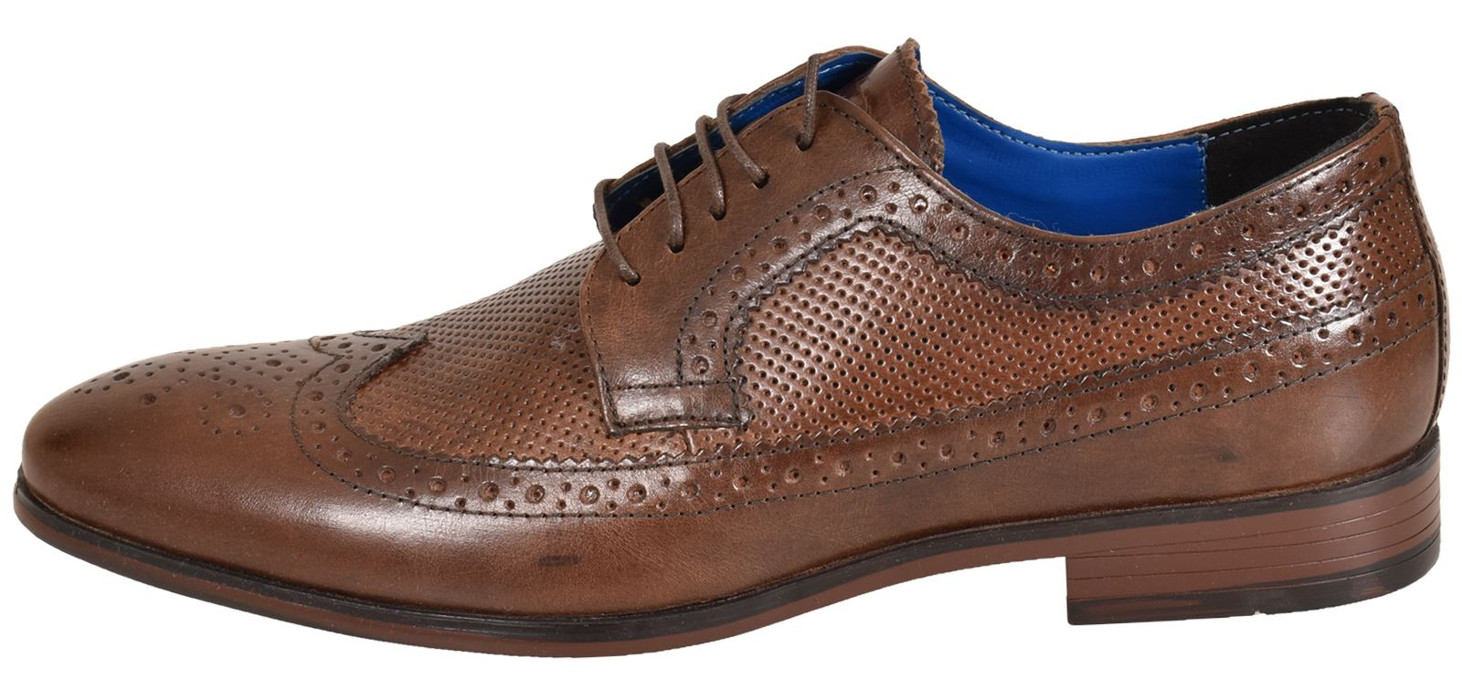 Mens-UK-Style-Leather-Lining-Formal-Office-Wedding-Smart-Work-Brogue-Shoes thumbnail 104
