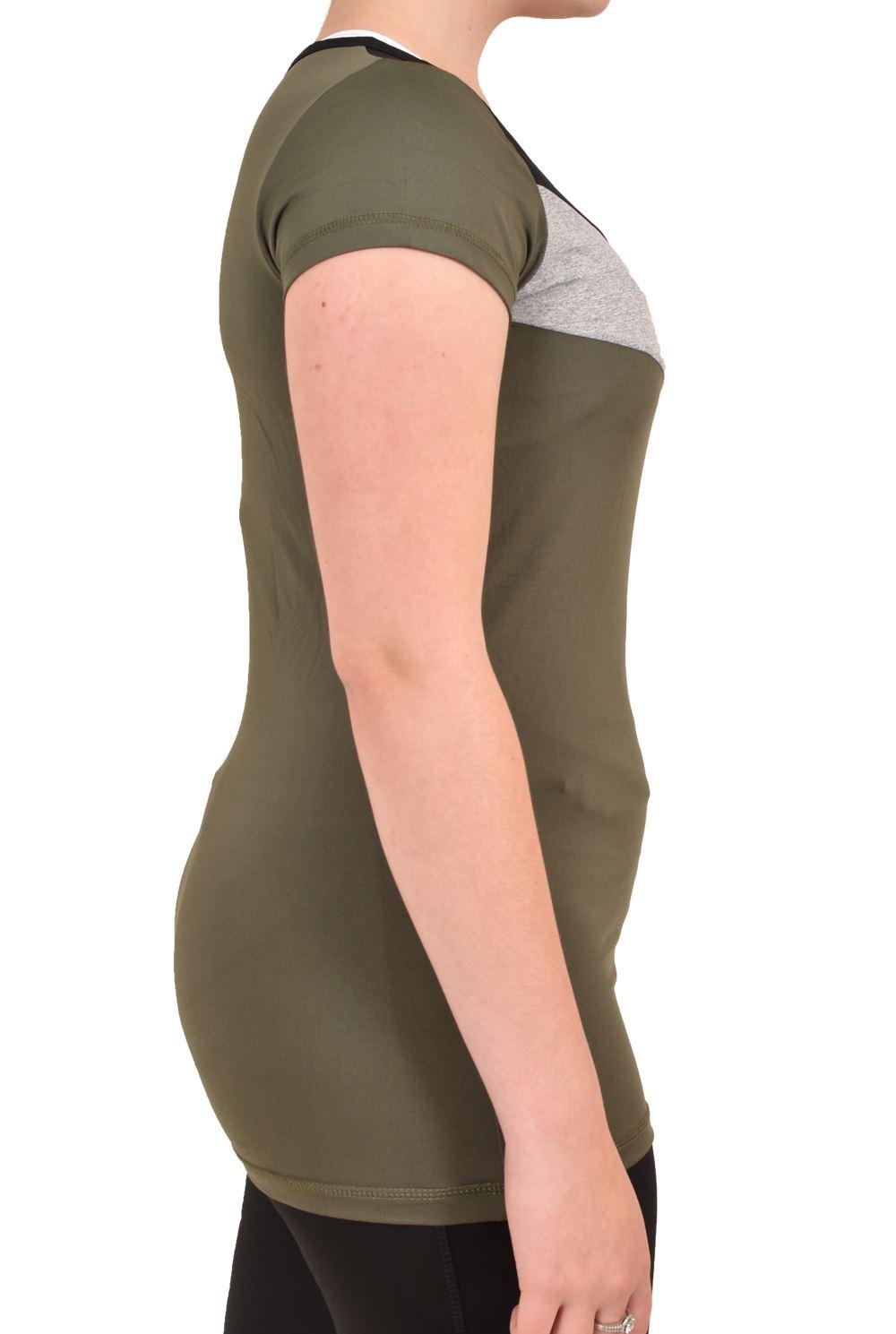 Camiseta-para-mujer-Skechers-Secado-Rapido-Top-senoras-de-Deportes-Activewear-Gimnasio-Fitness-Dance miniatura 10
