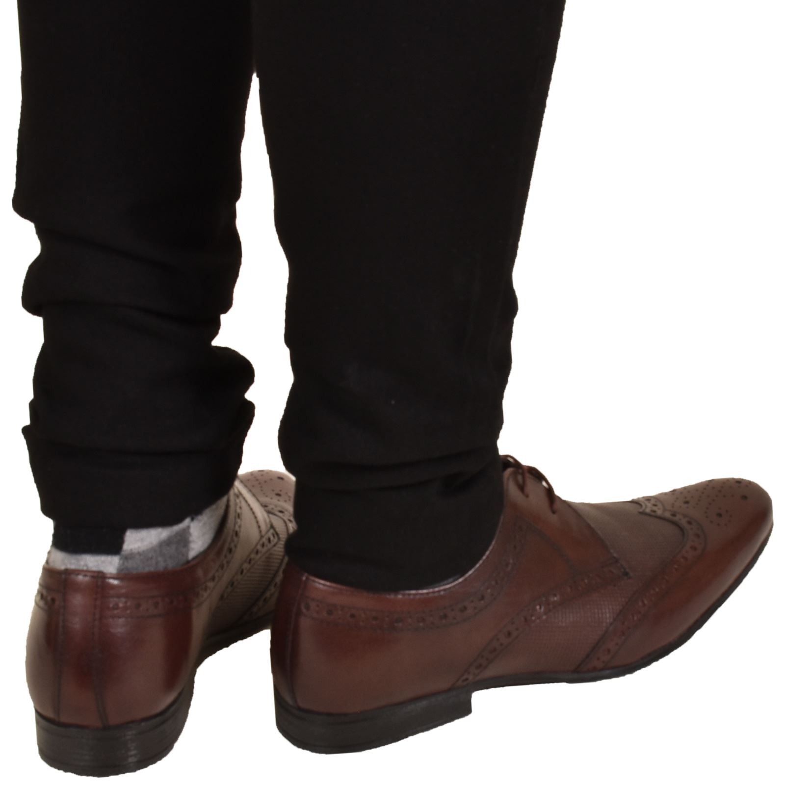 Mens-UK-Style-Leather-Lining-Formal-Office-Wedding-Smart-Work-Brogue-Shoes thumbnail 130