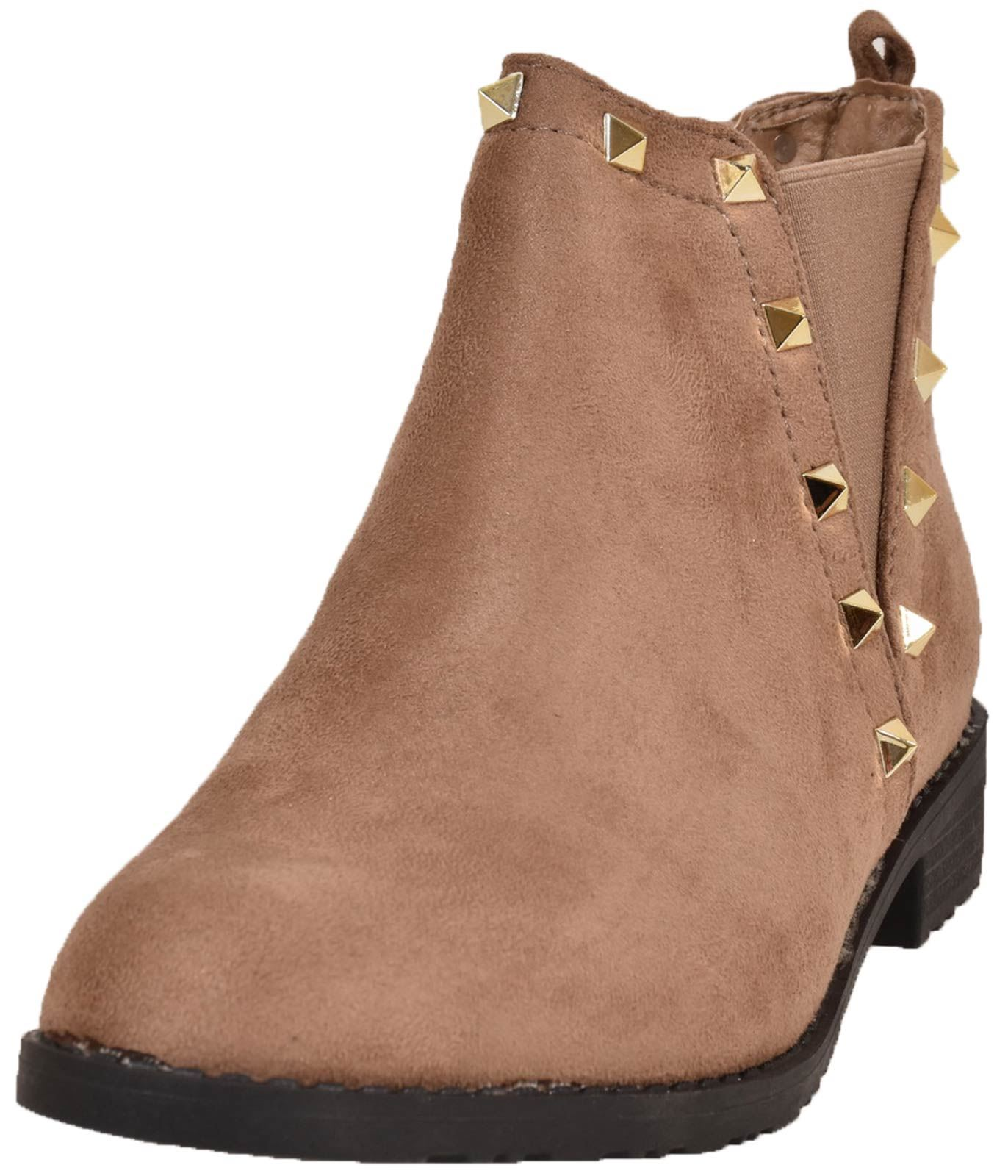 New-Women-Chelsea-Ankle-Boots-Winter-Block-Heel-Ladies-Biker-Style-Boots thumbnail 59