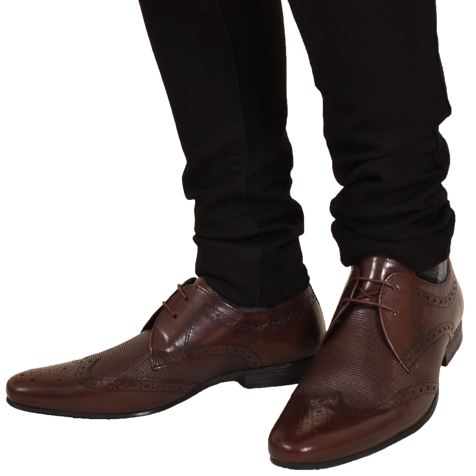 Mens-UK-Style-Leather-Lining-Formal-Office-Wedding-Smart-Work-Brogue-Shoes thumbnail 127