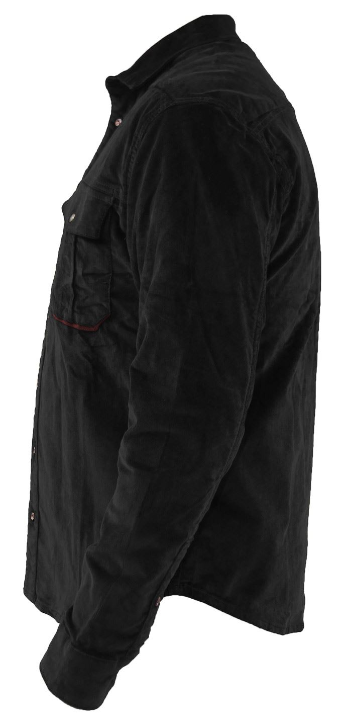 Mens-Corduroy-Cotton-Shirt-Long-Sleeve-Casual-Shirts-Jacksouth-Jacket-Top-S-2XL thumbnail 19