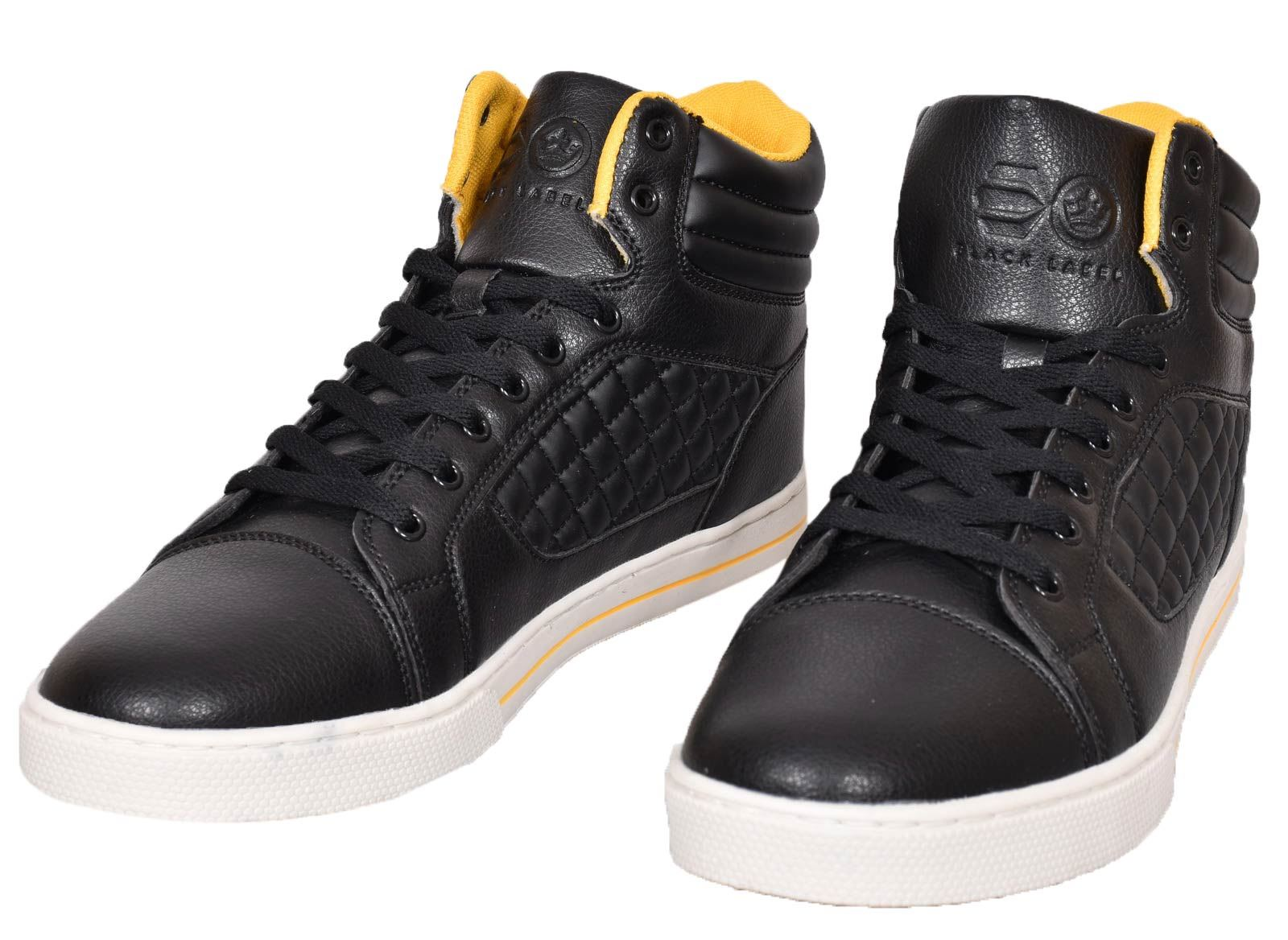 Mens-Trainers-Lace-up-Crosshatch-High-Tops-Ankle-Padded-Shoes-New-UK-Sizes-7-12 thumbnail 3