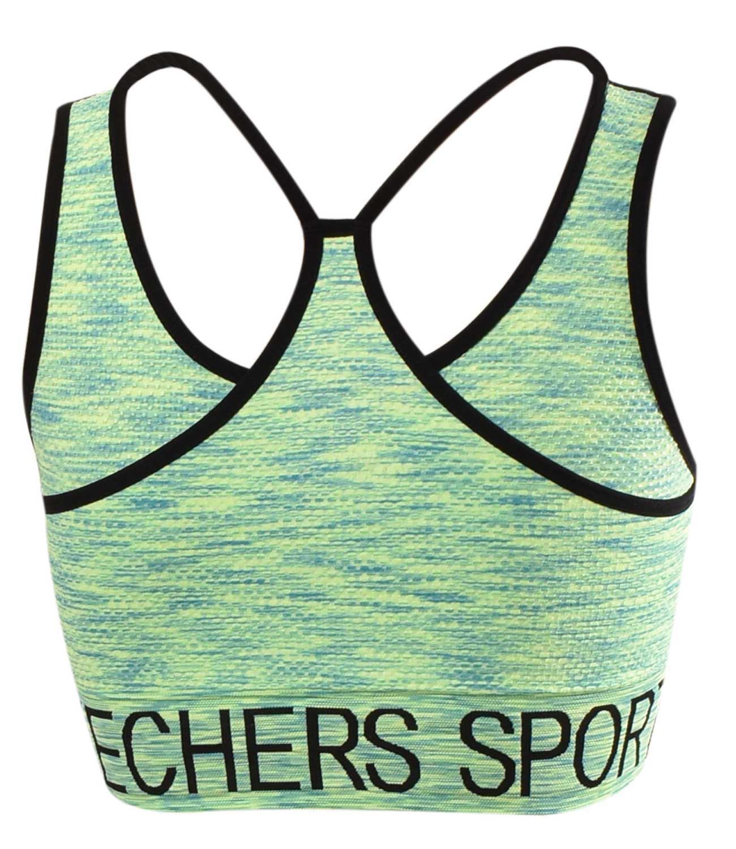 Skechers-senoras-para-mujer-Sujetador-Deportivo-Activo-Gimnasio-Correr-Top-Corto-Active-Wear miniatura 3