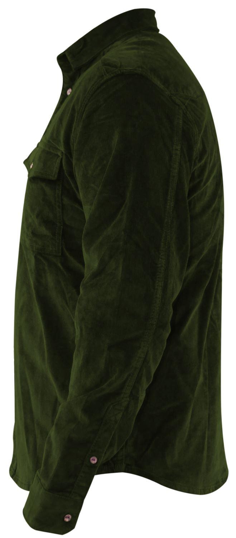 Mens-Corduroy-Cotton-Shirt-Long-Sleeve-Casual-Shirts-Jacksouth-Jacket-Top-S-2XL thumbnail 7