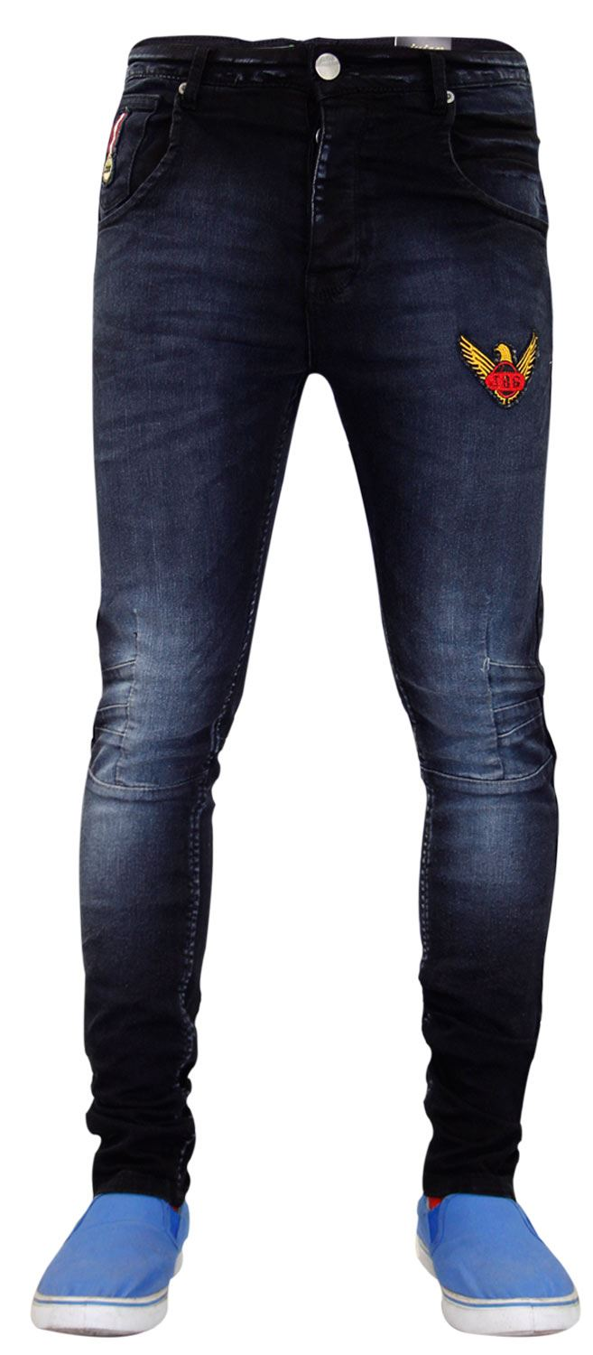 New-Mens-Skinny-Jeans-Stretch-Slim-Fit-Denim-Pants-Trousers-Bottoms-Sizes-28-40 thumbnail 3