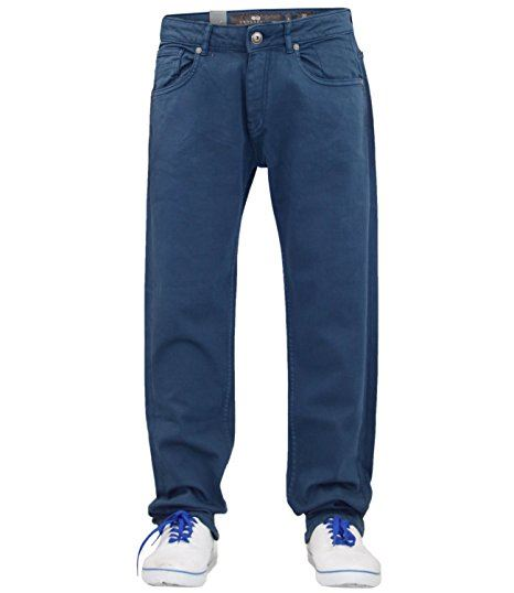 Mens-Slim-Fit-Pantalones-Pantalones-Vaqueros-Crosshatch-Stretch-Denim-Cintura-Tallas-30-38 miniatura 13
