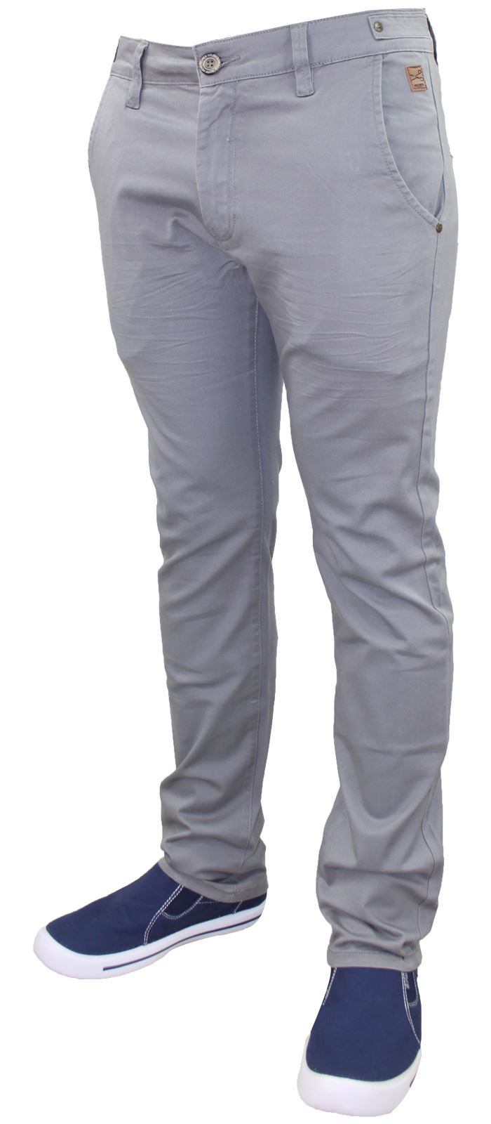 Men-Chinos-Trousers-Regular-Fit-Stretch-Cotton-Jeans-Pants-All-Waist-Sizes thumbnail 10