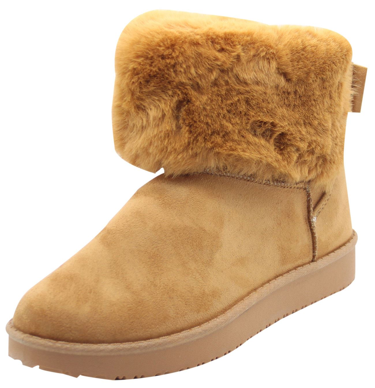 Women Winter Ankle Boots Ladies Flat