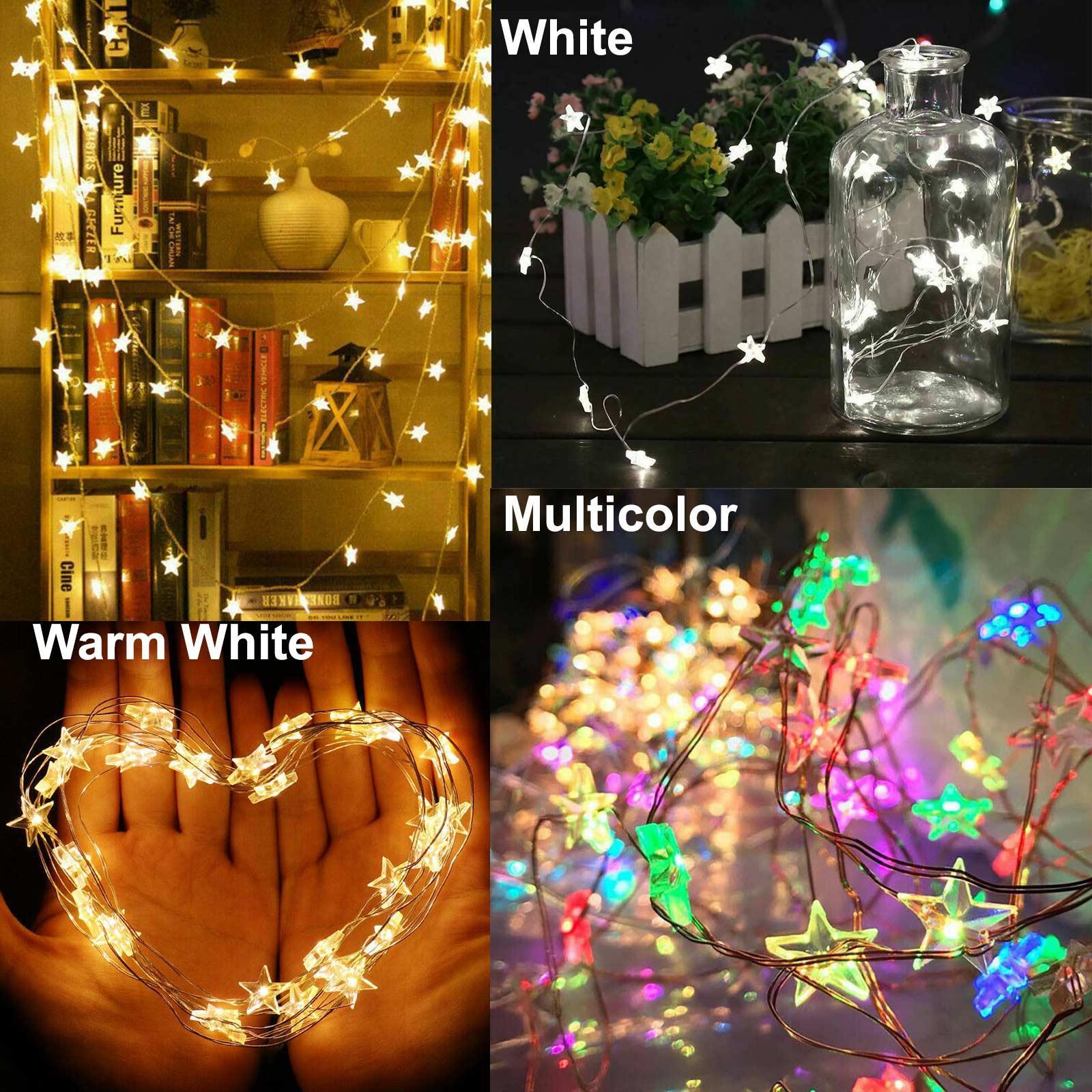 LED Star Lights Battery Garden Fairy String Micro Wedding Party Bedroom Decor UK
