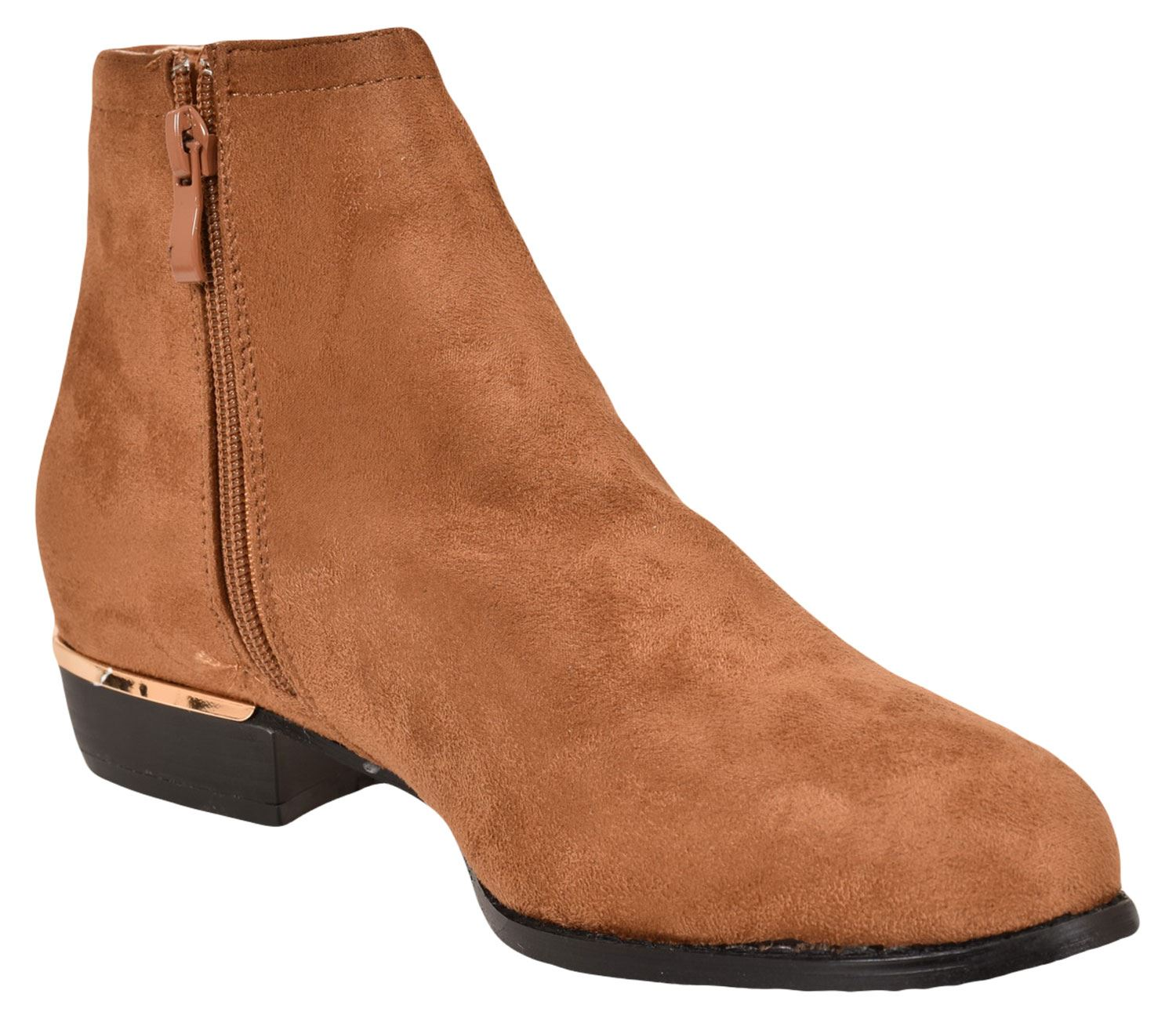 New-Women-Chelsea-Ankle-Boots-Winter-Block-Heel-Ladies-Biker-Style-Boots thumbnail 38