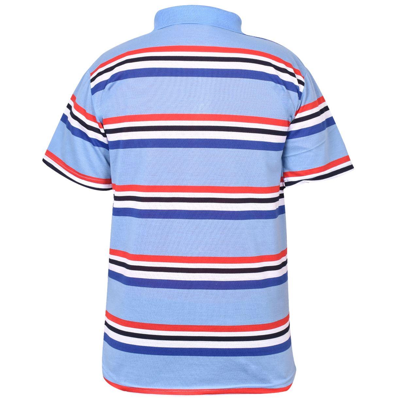 Mens-T-Shirts-Yarn-Dyed-Strip-Pocket-Polo-Shirt-Top-Multi-Colour-Size-M-3XL thumbnail 52